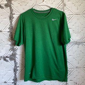 Mens green Nike dry fit tee